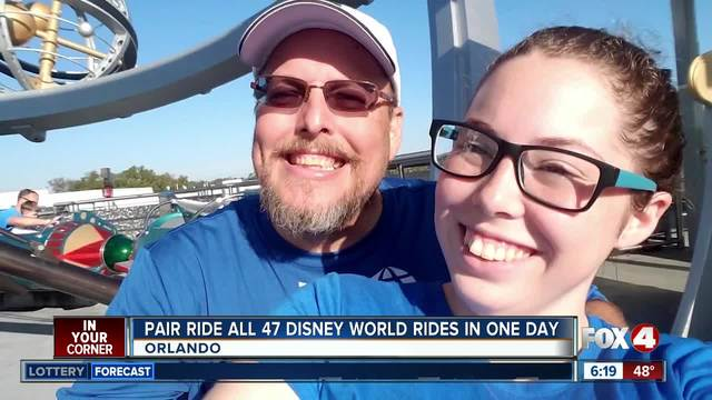 Dad and daughter ride all 47 Disney World rides