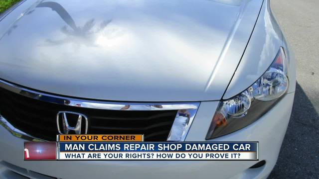 Man Claims Repair Shop Damaged Car