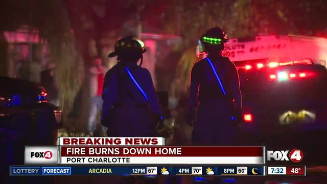 Port Charlotte home destroyed by fire early Thursday morning