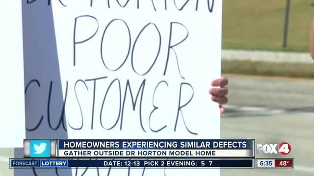 Protests outside DR Horton model home