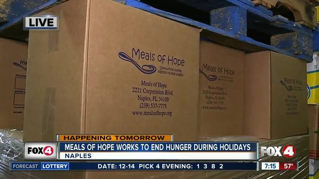 Meals of Hope works to end hunger for the holidays - 7am live report