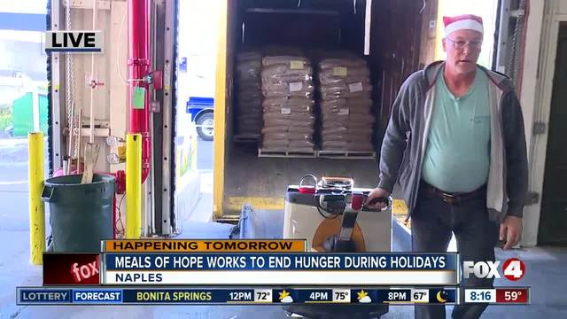Meals of Hope works to end hunger for the holidays - 8am live report