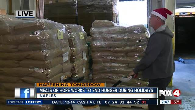 Meals of Hope works to end hunger for the holidays - 7-30am live report