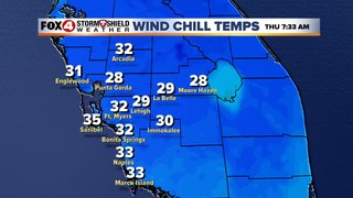 Wind Chill Advisories issued across SWFL