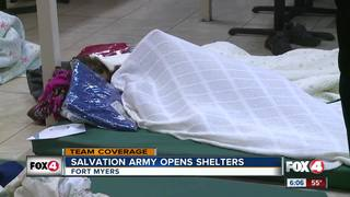 Salvation Army weather shelters open