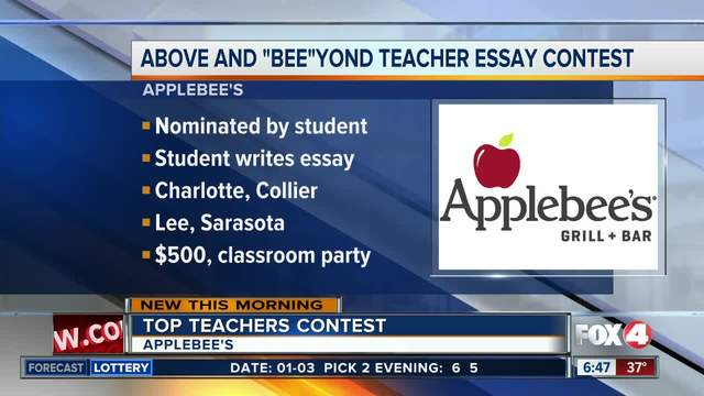 applebees photo essay Lee county, fla -- applebee's wants to recognize top teachers in southwest florida as part of their above and beeyond teacher essay contest, teachers are nominated by their students, who can submit an essay describing why their teacher deserves to be teacher of the year applebee's.