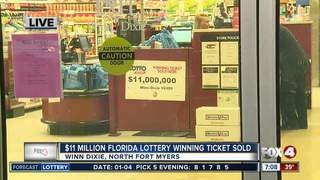 $11 million Lotto ticket claimed in Lee County