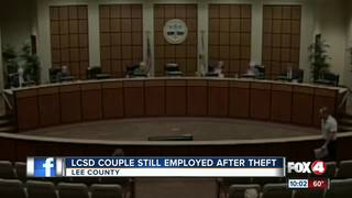 Couple keeps school jobs after stealing money