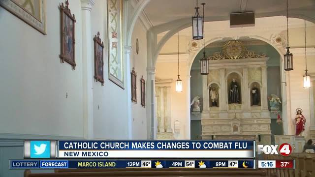Catholic Church announces -no touching- policy to combat flu