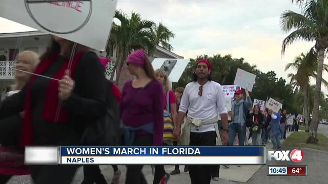 Marchers gather for in Naples on Anniversary of Women-s MArch