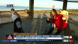 Lovers Key now offers Monday morning yoga