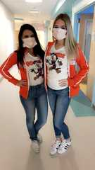 Hooters Girls visit Golisano Children's Hospital