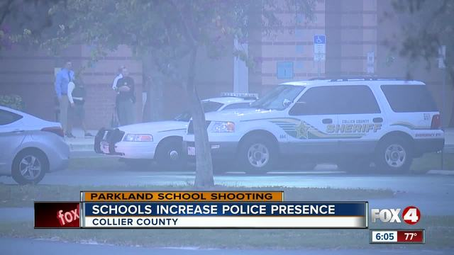 Deputies increase security at Collier schools the day after Parkland shooting