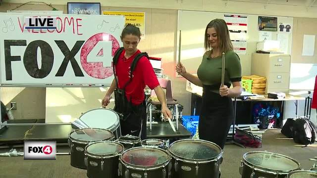 High school band fundraises for holiday parade in March - 7-30am live report