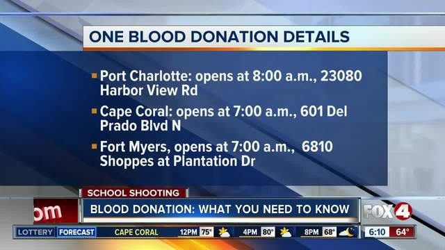 Blood supplies need replenishing in Southwest Florida