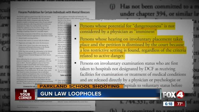 FL loophole- gun laws still allow mentally ill to purchase guns in Florida