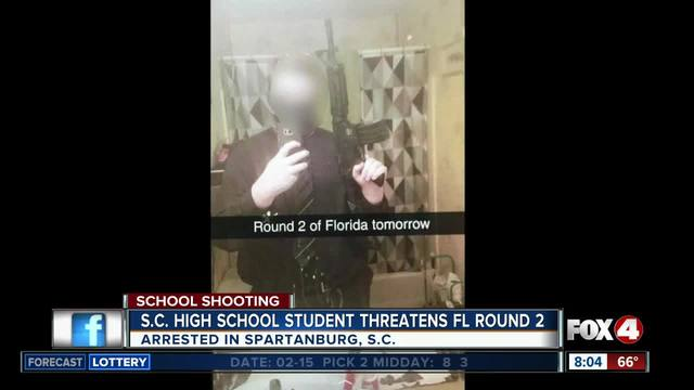 South Carolina student arrested for threatening -Round 2- of shootings