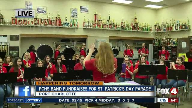 High school band fundraises for holiday parade in March - 7am live report