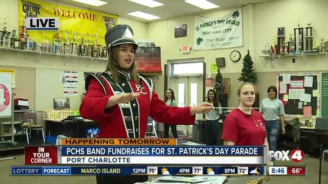 High school band fundraises for holiday parade in March - 8-30am live report