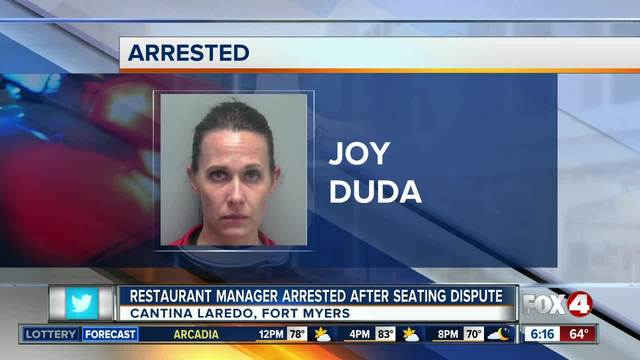 Restaurant manager arrested over seating dispute