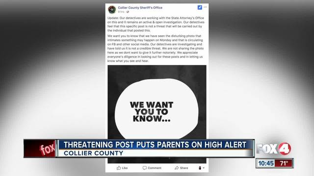 Threatening Post Puts Parents On