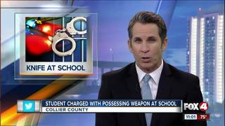 Student arrested for bring a knife to school