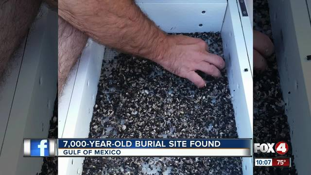 7000-year-old Native American burial site discovered off Florida coast