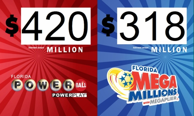 Dueling lottery jackpots combine for over $700 million on the table