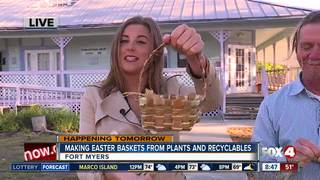 Make Easter baskets from plants and recyclables