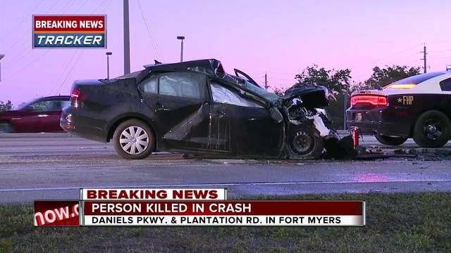Fatal crash on Daniels Parkway Thursday morning