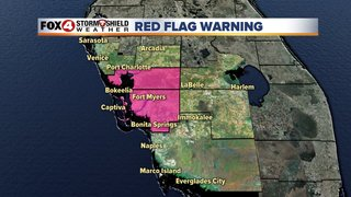 Red Flag Warnings in Lee and Charlotte Counties