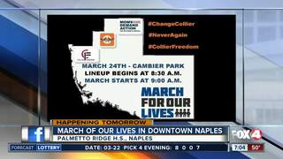 Students planning to march in downtown Naples