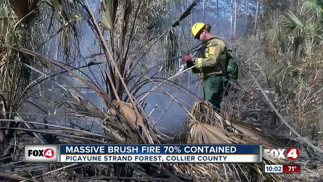 Crews continue to battle Greenway fire in Collier County