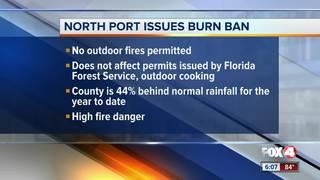 North Port issues burn ban