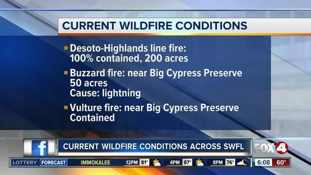 Wildfires across Southwest Florida