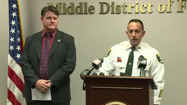 Press Conference- Lee County Sheriff-s Office discuss arrest of Lois…