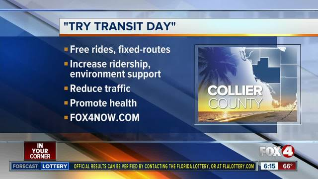 -Try Transit Day- kicking off in Collier County