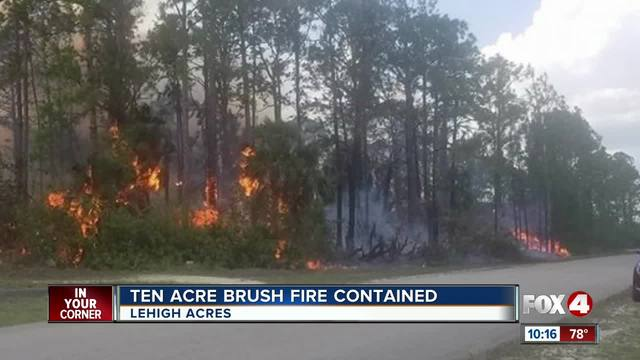 Brush fire in Lehigh Acres