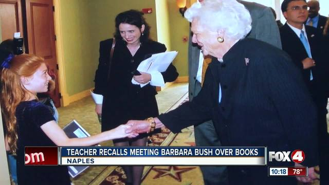 Teacher recalls meeting Barbara Bush as a child