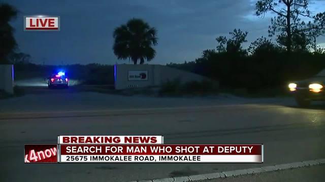 Gunman who shot at deputy now in custody
