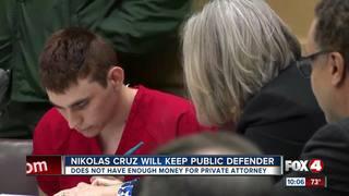 School shooting suspect keeps public defender