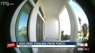 Porch pirate caught on tape in the Cape