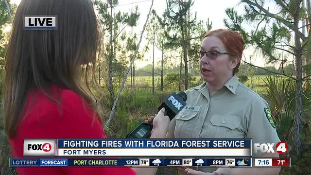 Fighting fires with the Florida Forest Service - 7am live report