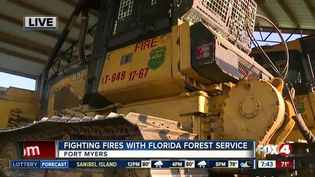 Fighting fires with the Florida Forest Service - 7-30am live report