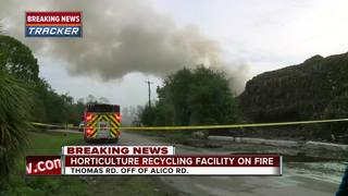 Mulch fire burning in South Fort Myers