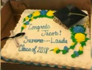 South Carolina grocery censors graduation cake