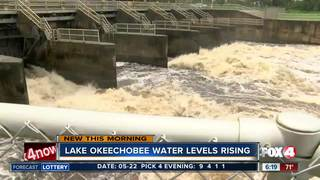 Water levels of Lake Okeechobee rising