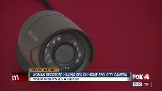 Motion sensor camera records couple having sex