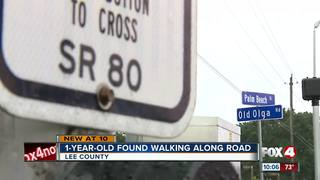 1-year-old wanders alone on busy Lee county road
