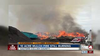 Mulch fire persists in Collier County
